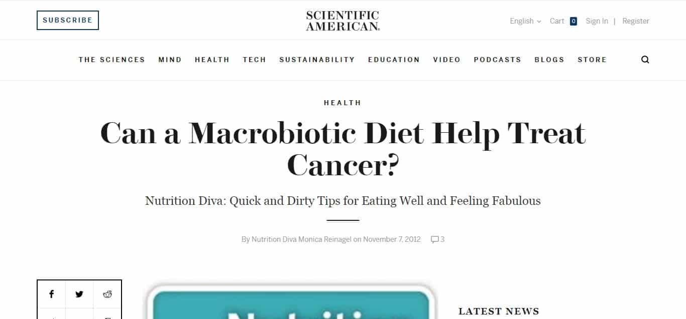 Macrobiotic Diet - article 3