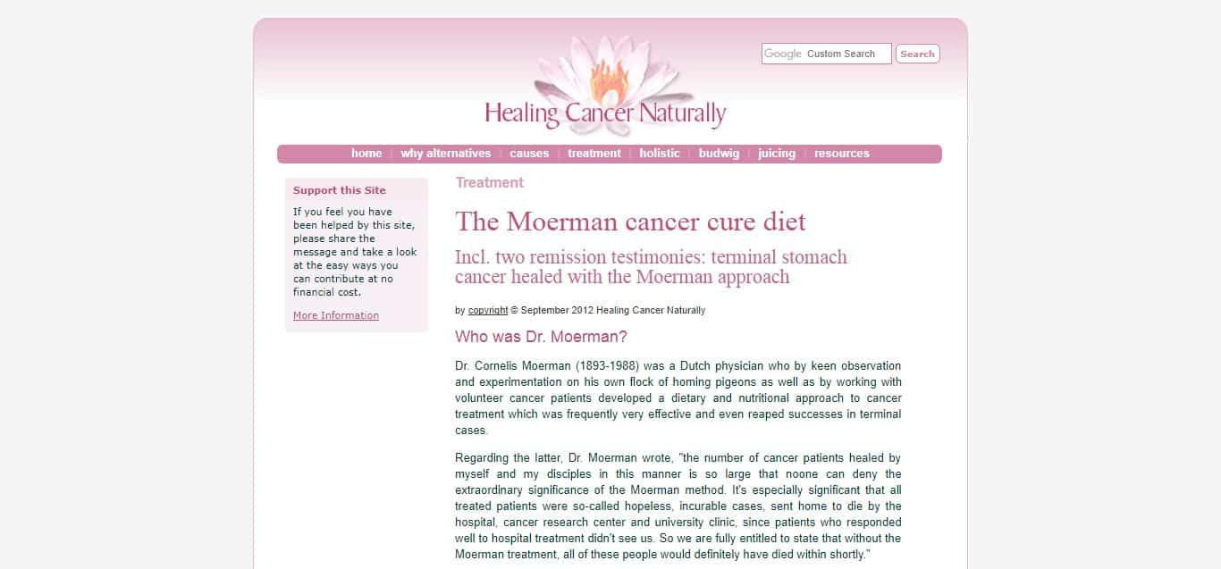 Moerman Diet - article 2