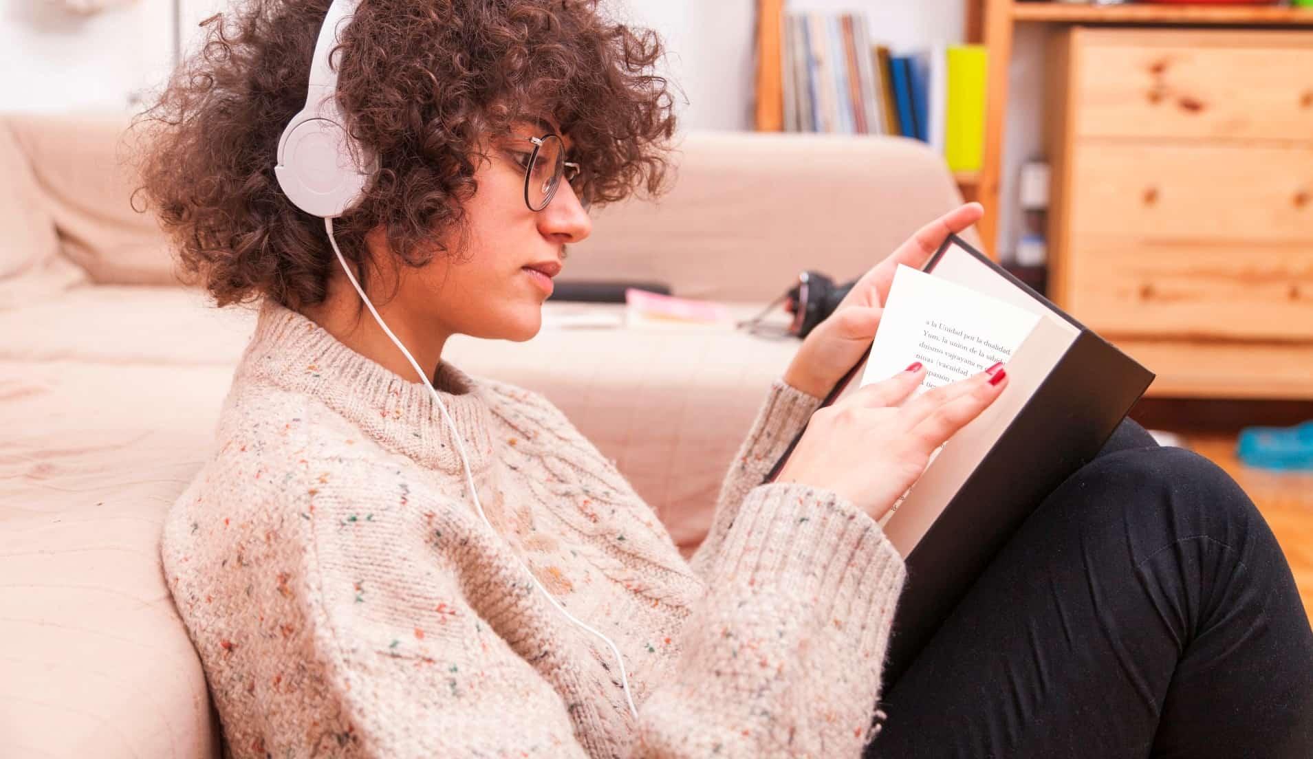 listening through headphone